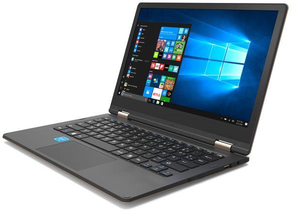 "Notebook ODYS Shape Pro, 11,6"", Win 10 Home, schwarz/gold, 32 GB (X610176) - Produktbild 1"