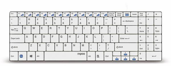 USB-Tastatur RAPOO N7200, ultra-slim, weiß - Produktbild 1