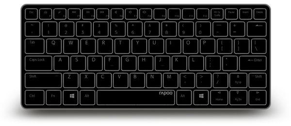 Bluetooth Tastatur RAPOO E6350, schwarz - Produktbild 1