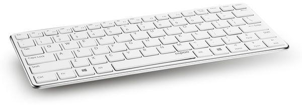 Bluetooth Tastatur RAPOO E6350, weiß-silber - Produktbild 1