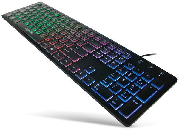 USB-Tastatur beleuchtet LogiLink ID0138, schwarz