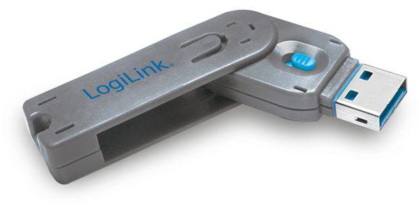USB Port Schloss, 1x Schlüssel, 1 Schloss, LogiLink, AU0044 - Produktbild 1