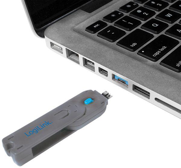 USB-Portschloss LogiLink AU0045, 1x Schlüssel, 8 Schlösser, - Produktbild 2