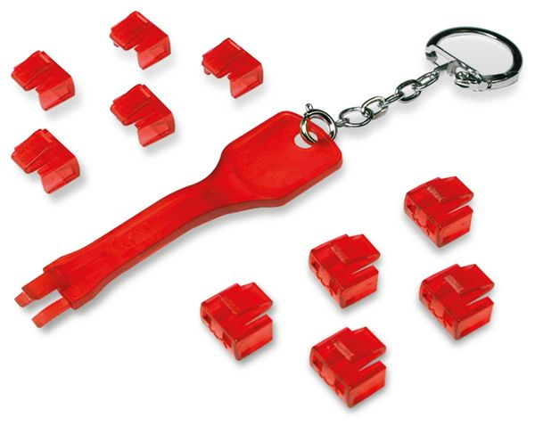 RJ45 Port Blocker, 1 Schlüssel, 10 Schlösser LogiLink, MP0042