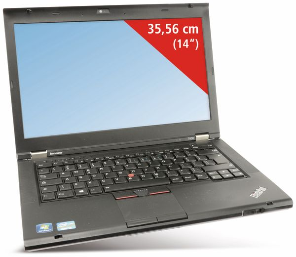 "Laptop LENOVO Thinkpad T430, 14"", Intel i5, 8 GB, Win 10 Pro, Refurbished - Produktbild 1"