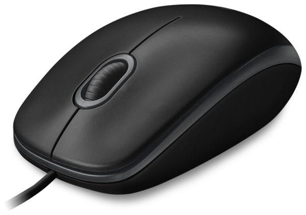 USB-Maus LOGITECH B100, optisch, 800 dpi, schwarz