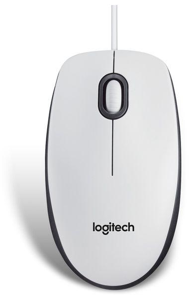 USB-Maus LOGITECH M100, optisch, 1000 dpi, weiß