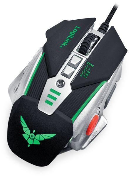 USB-Gaming-Maus LOGILINK ID0156, 3200 DPI, schwarz-silber - Produktbild 2