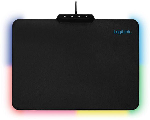 Mauspad LOGINK ID1055, RGB-LED, schwarz - Produktbild 1