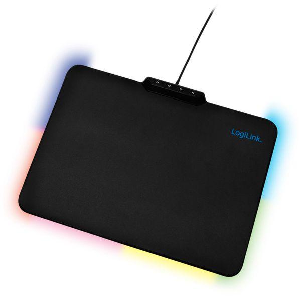 Mauspad LOGINK ID1055, RGB-LED, schwarz - Produktbild 5