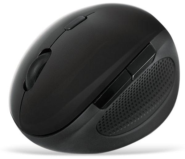 Ergonomische Funk-Maus LOGILINK ID0139, 1600 DPI, schwarz - Produktbild 2
