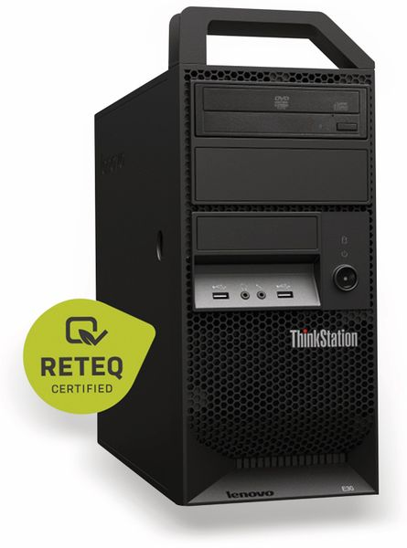 PC LENOVO ThinkStation E30, Intel i3, 8 GB, Win 7 Pro, Refurbished - Produktbild 1
