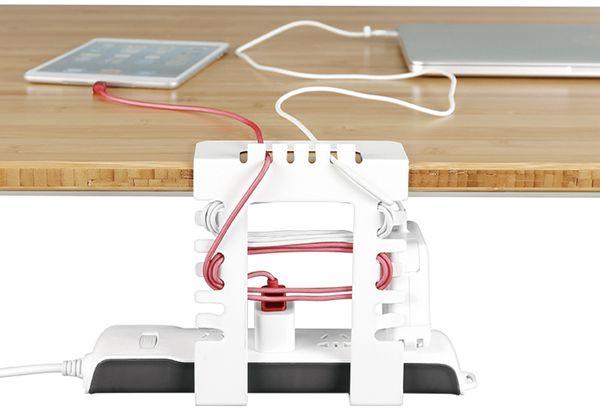 Kabelmanagementsystem LOGILINK KAB0066, Untertischmontage - Produktbild 5