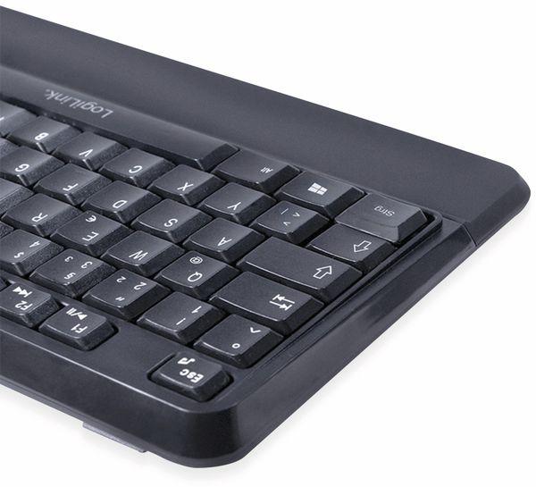 Funktastatur- und Maus-Set LOGILINK ID0161, Slim, schwarz - Produktbild 2