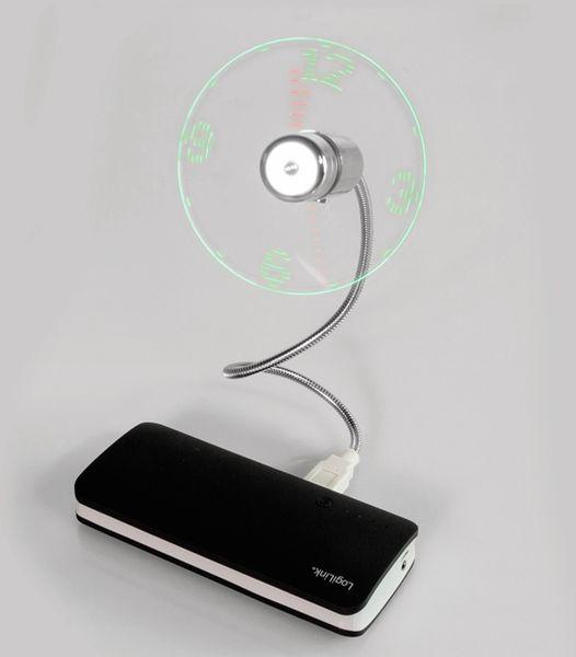 USB-Ventilator LOGILINK UA0294, mit Uhrzeit - Produktbild 3