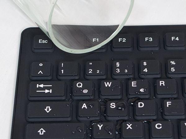Tastatur LOGILINK ID0019A, flexibel, schwarz - Produktbild 2