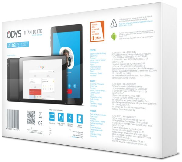 "Tablet ODYS Titan 10 LTE, 10,1"", Quad-Core, Android 8.1, Dual SIM - Produktbild 5"
