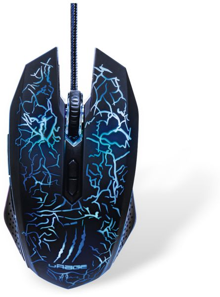 Gaming-Maus HAMA uRage Illuminated, USB, 3000 dpi