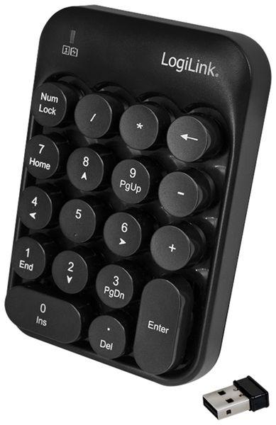 Keypad LOGILINK ID0173, Wireless, schwarz - Produktbild 2