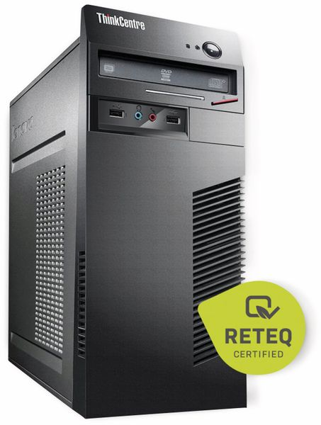 PC LENOVO ThinkCentre M73, Intel i3, 500 GB HDD + 128 GB SSD, Refurbished - Produktbild 1