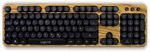 Funk Tastatur- und Maus-Set LOGLINK ID0176, Retro Wood - Produktbild 2