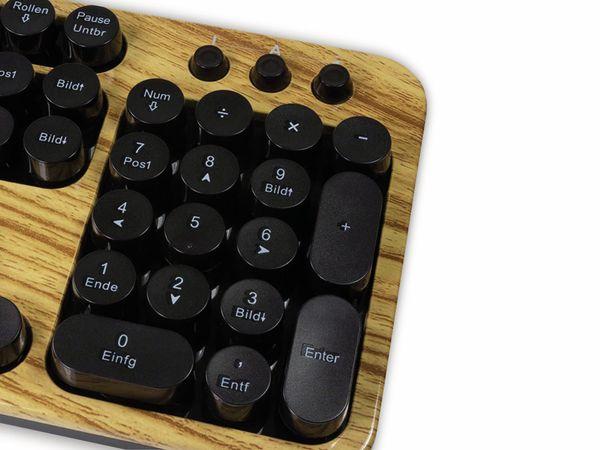 Funk Tastatur- und Maus-Set LOGLINK ID0176, Retro Wood - Produktbild 3
