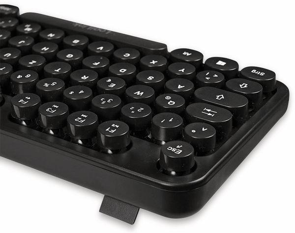 Funk Tastatur- und Maus-Set LOGLINK ID0178, Retro - Produktbild 3