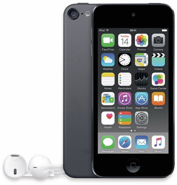 APPLE IPod Touch 6, 16 GB, space-grau, Refurbished