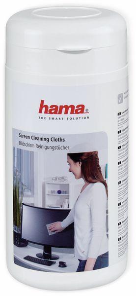 Hama Bildschirm-Reinigungstücher, 100 Stück, in Spenderdose