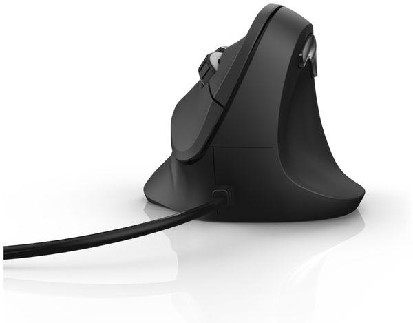 USB-Maus HAMA EMC-500, ergonomisch, 6 Tasten, schwarz - Produktbild 2