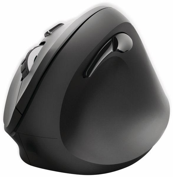 Funkmaus HAMA EMW-500, ergonomisch, 6 Tasten, schwarz