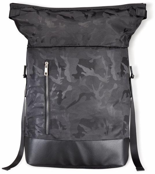 """Notebook-Rucksack HAMA Roll-Top, 15,6"""", Mission Camo, schwarz - Produktbild 2"""