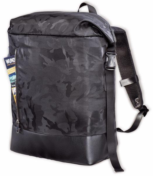 """Notebook-Rucksack HAMA Roll-Top, 15,6"""", Mission Camo, schwarz - Produktbild 3"""