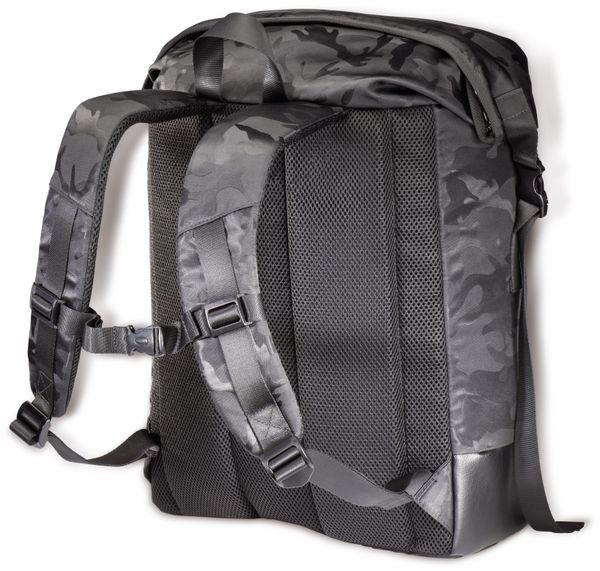 """Notebook-Rucksack HAMA Roll-Top, 15,6"""", Mission Camo, schwarz - Produktbild 4"""