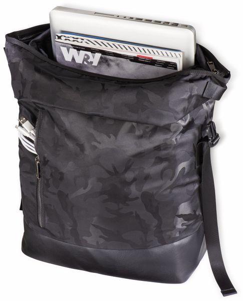 """Notebook-Rucksack HAMA Roll-Top, 15,6"""", Mission Camo, schwarz - Produktbild 5"""