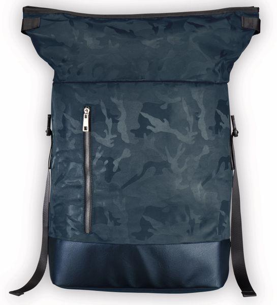 "Notebook-Rucksack HAMA Roll-Top, 15,6"", Mission Camo, Navy Blue - Produktbild 2"