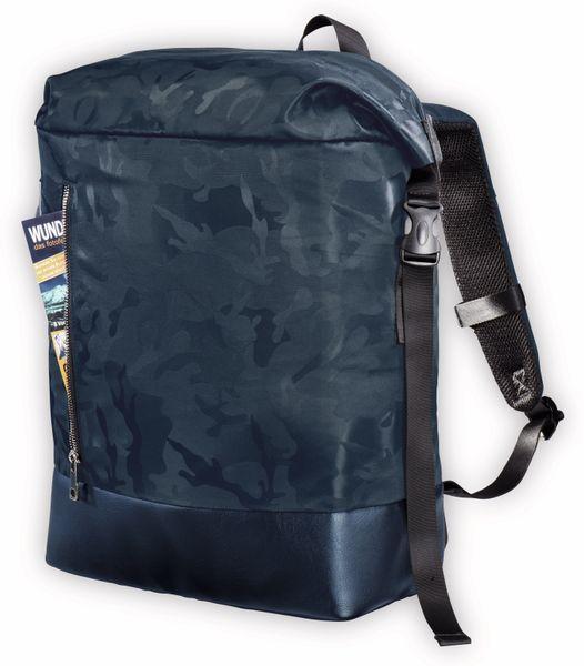 "Notebook-Rucksack HAMA Roll-Top, 15,6"", Mission Camo, Navy Blue - Produktbild 3"