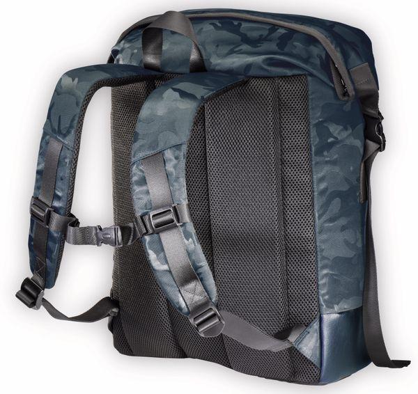 "Notebook-Rucksack HAMA Roll-Top, 15,6"", Mission Camo, Navy Blue - Produktbild 4"
