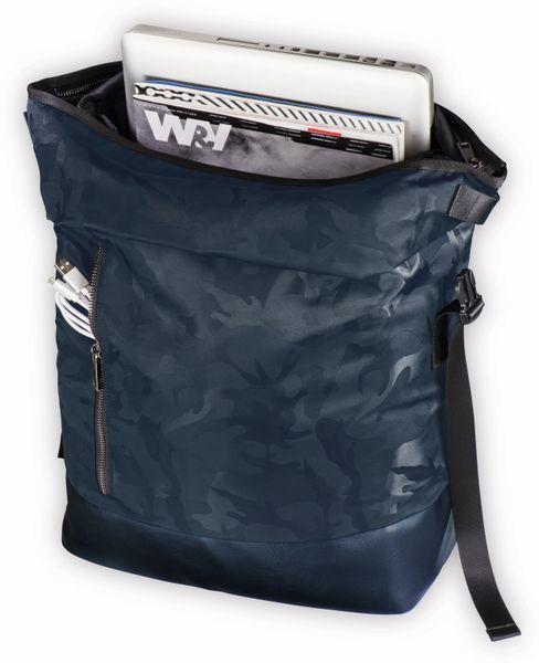 "Notebook-Rucksack HAMA Roll-Top, 15,6"", Mission Camo, Navy Blue - Produktbild 5"