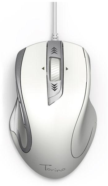 USB-Maus Torino, 6 Tasten, weiß - Produktbild 2