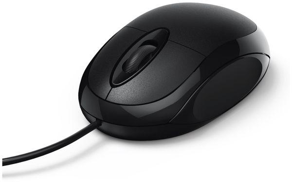 USB-Maus HAMA MC-100, 3 Tasten, schwarz - Produktbild 1