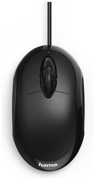 USB-Maus HAMA MC-100, 3 Tasten, schwarz - Produktbild 2