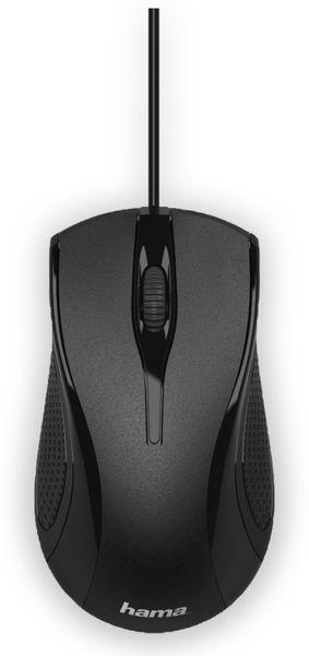 USB-Maus HAMA MC-200, 3 Tasten, schwarz - Produktbild 2