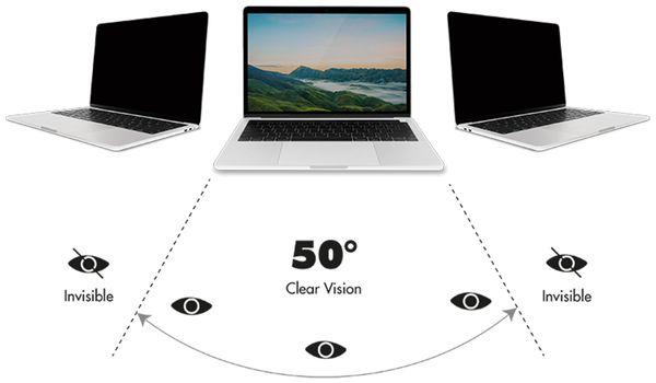"Sichtschutzfilter LOGILINK AA0125, Macbook Pro 13,3"", magnetisch - Produktbild 4"