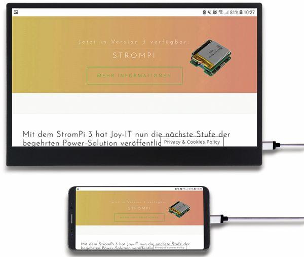 "USB-C Touch-Monitor JOY-IT Joy-View 13, 13,3"", HDMI, 1920x1080 - Produktbild 4"