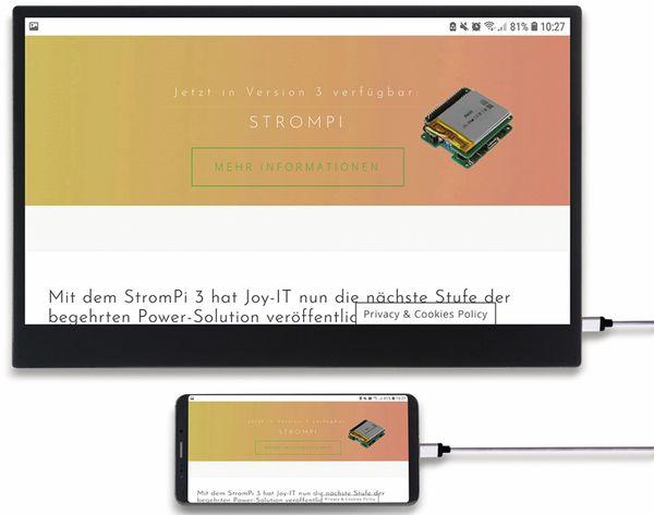 "USB-C Touch-Monitor JOY-IT Joy-View 15, 15,6"", HDMI, 1920x1080 - Produktbild 4"