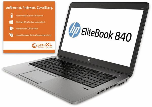 "Notebook HP EliteBook 840 G2, 14"", i5, 256GB SSD, Win10P, Refurbished"