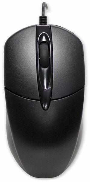 Tastatur- und Maus-Set INTER-TECH KB-118, schwarz - Produktbild 3