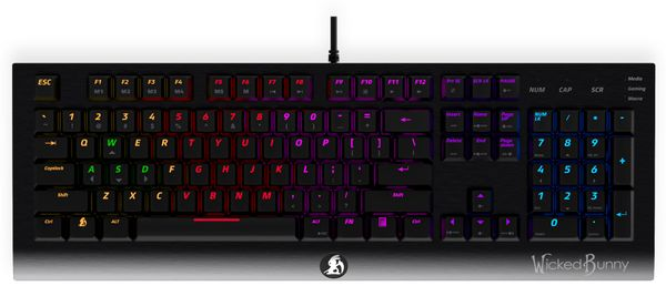 Gaming-Tastatur WICKED BUNNY Agility, Mechanisch, RGB - Produktbild 3