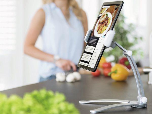 """Tablet-Halterung HAMA 182580, 7-15"""", Aluminium - Produktbild 3"""
